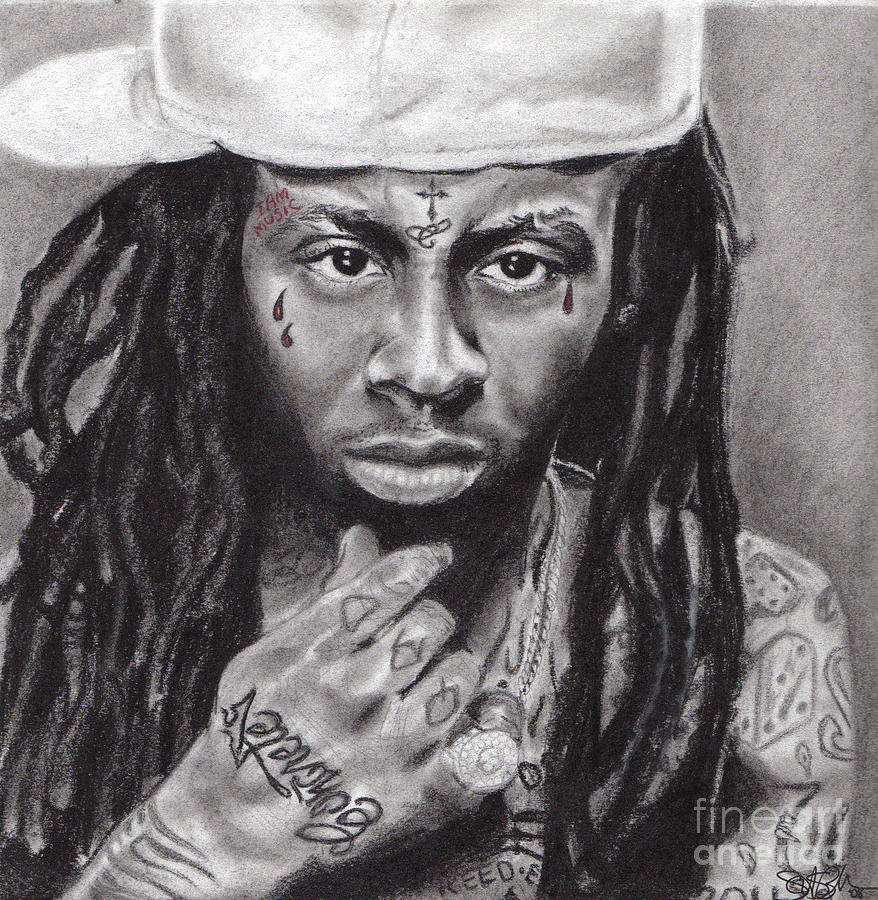 Lil Wayne Drawing - Lil Wayne by Stephon Beckham