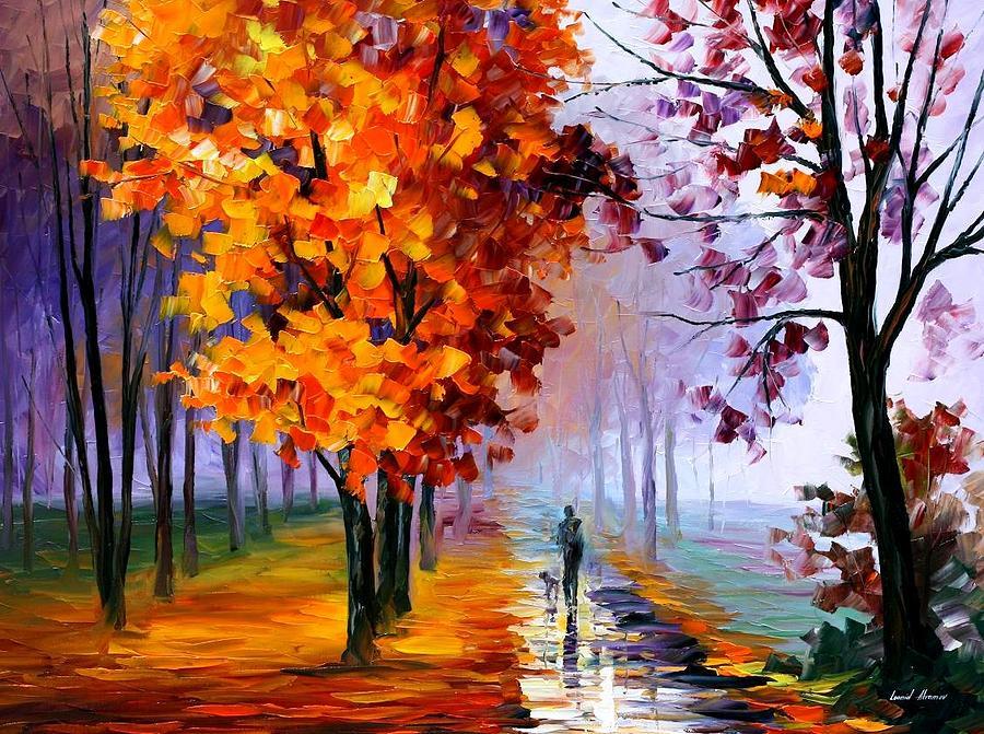 Lilac Fog Painting by Leonid Afremov