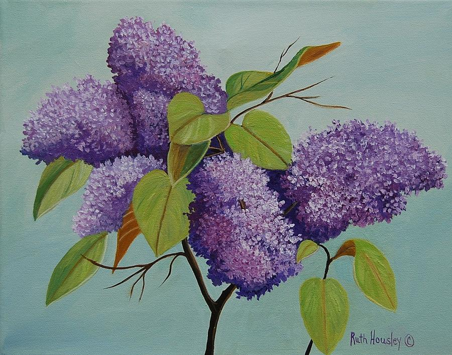 Ruth Housley Fine Art Painting - Lilacs by Ruth  Housley