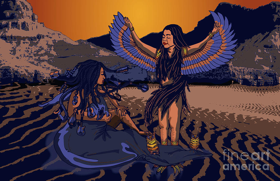 Lilith Digital Art - Lilith And Musical Medusa by Laura Brightwood