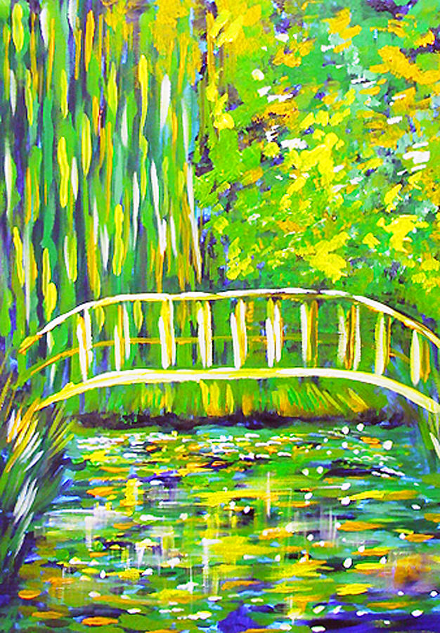 Lilly Pond Painting - Lillies by Paul SANDILANDS