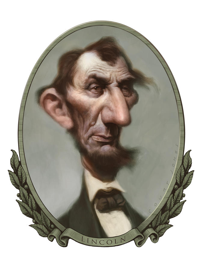 Abraham Lincoln Painting - Lincoln by Court Jones