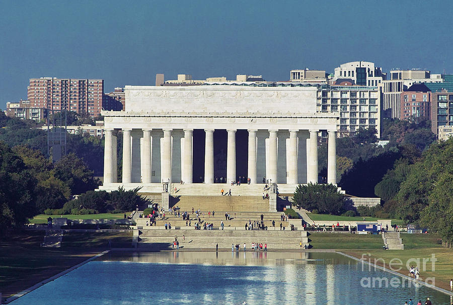Lincoln Memorial And Reflecting Pool Washington Dc Photograph