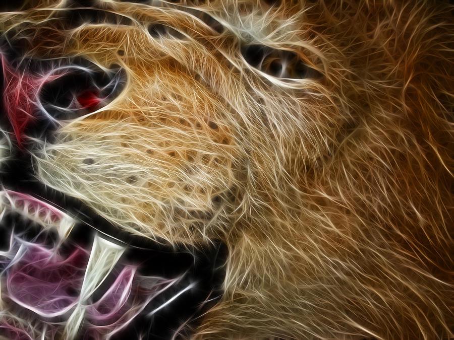 Lion Photograph - Lion Fractal by Shane Bechler