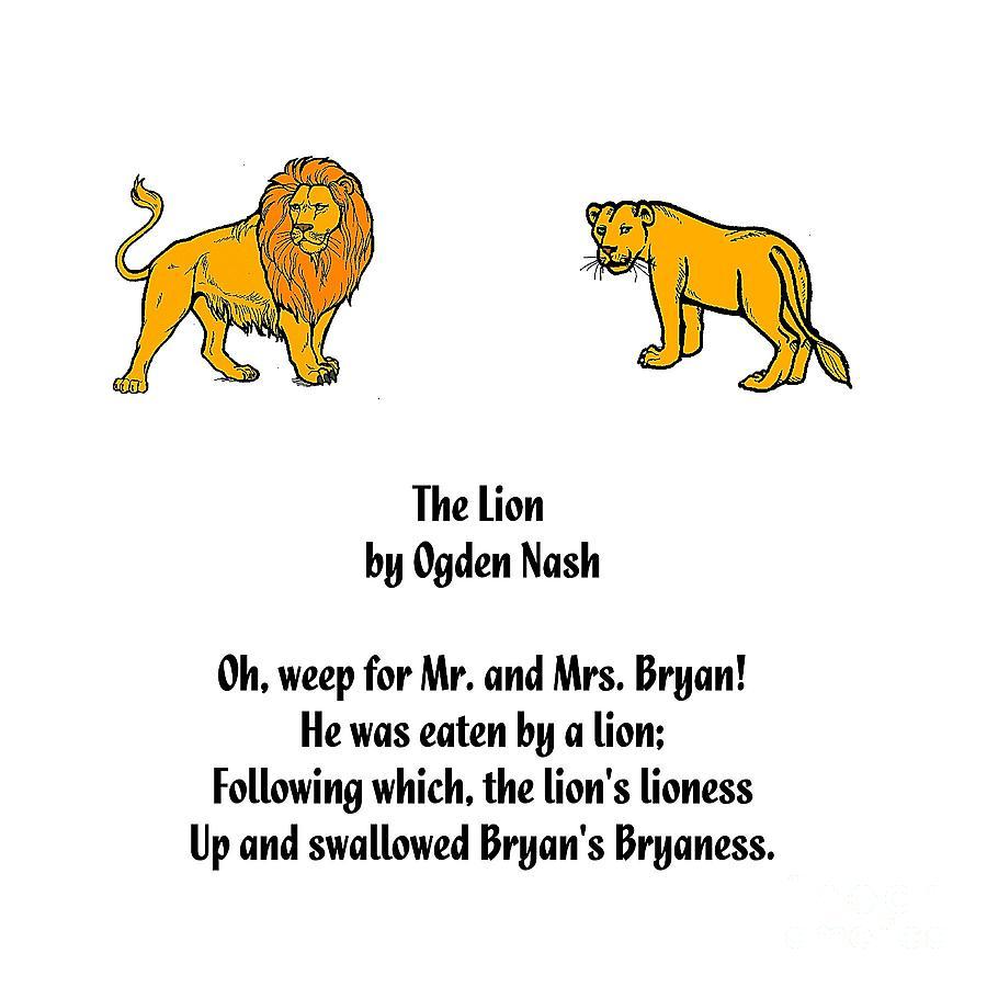 Lion Limerick Digital Art By Spencer Mckain