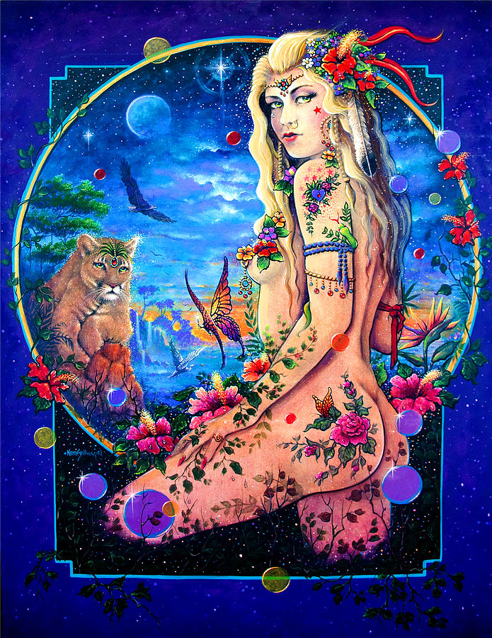 Goddess Painting - Lionessa by Keith Stillwagon