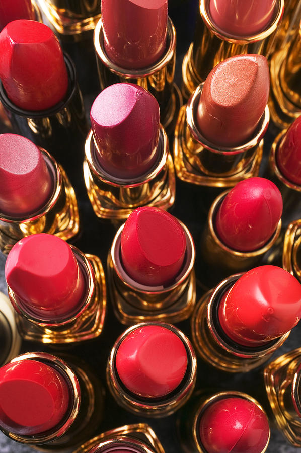 Lipstick Photograph - Lipstick Rows by Garry Gay