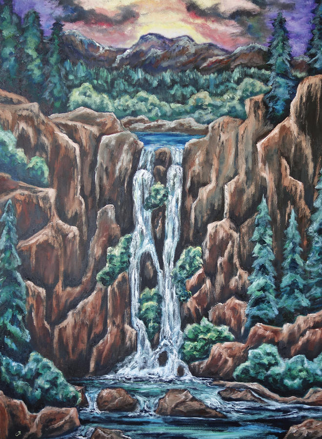 Mountains Painting - Listen To The Echoes by Cheryl Pettigrew