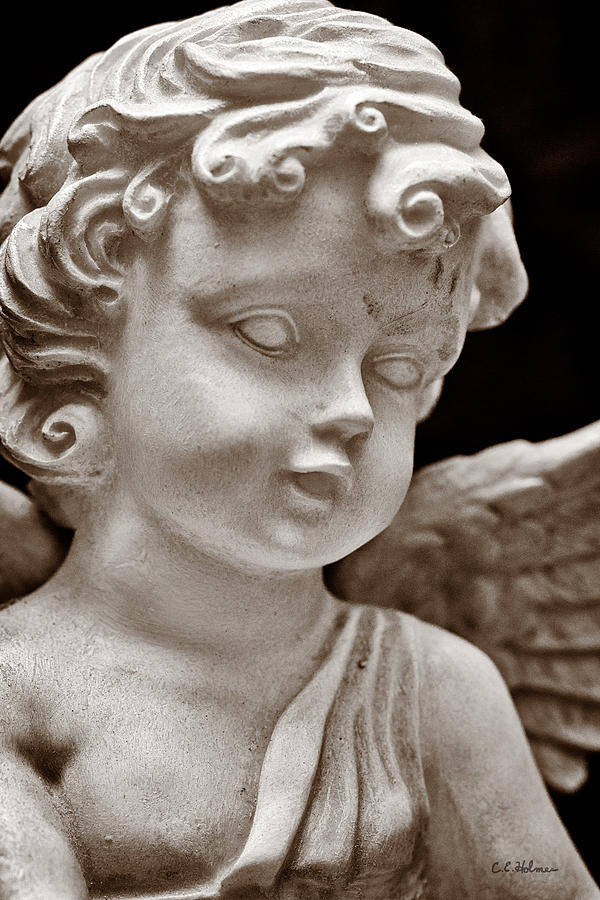 Angel Photograph - Little Angel - Sepia by Christopher Holmes