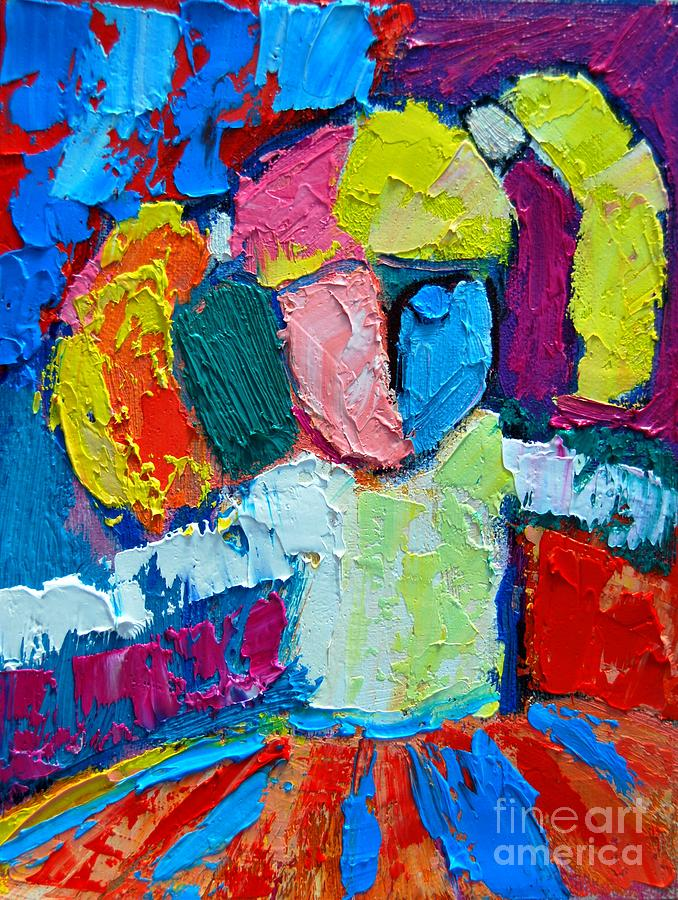 Abstract Painting - Little Ballerina by Ana Maria Edulescu