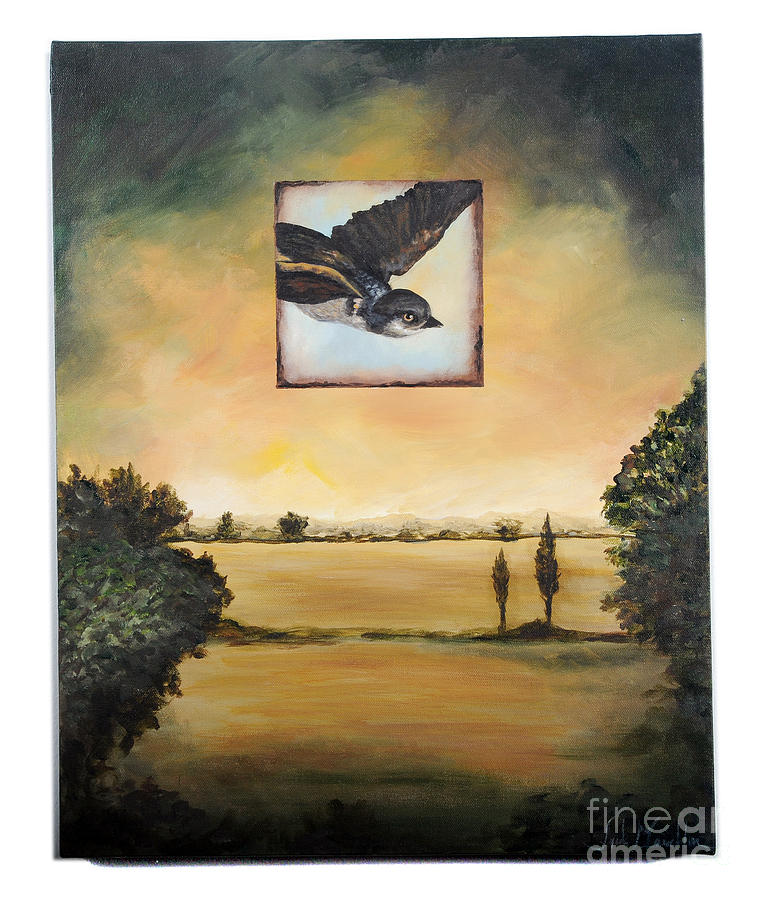 Landscape Painting - Little Blue by Lynda McLaughlin