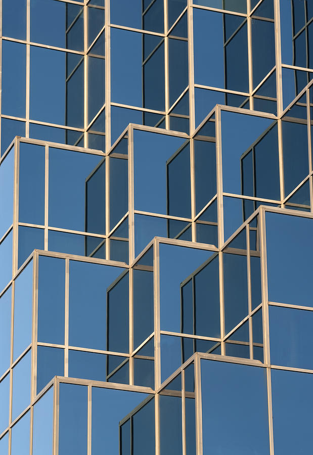 Reflections Photograph - Little Boxes by Elisabeth Van Eyken