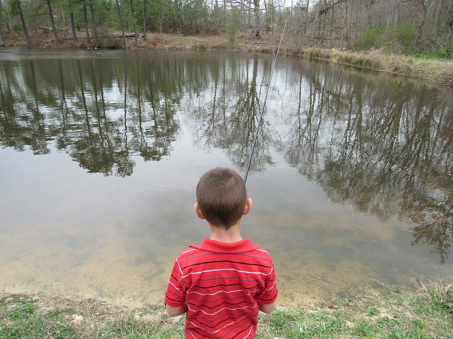 Little boy fishing photograph by tonia delozier for Little boy fishing