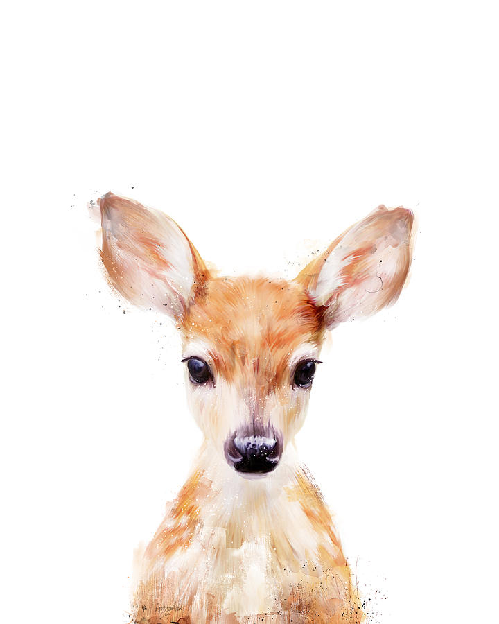 Little Deer Painting By Amy Hamilton