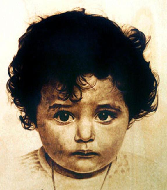Dino Muradian Pyrography - Little Girl - Study by Dino Muradian