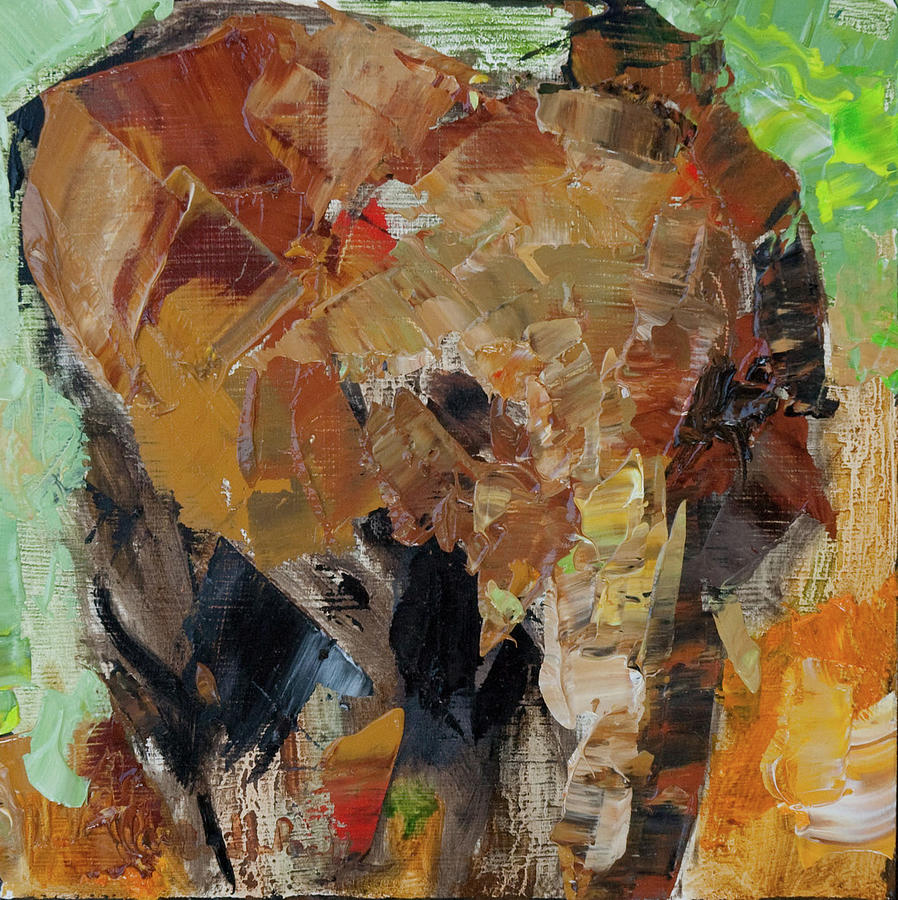 Elephants Painting - Little Makena   by Marsha Heimbecker