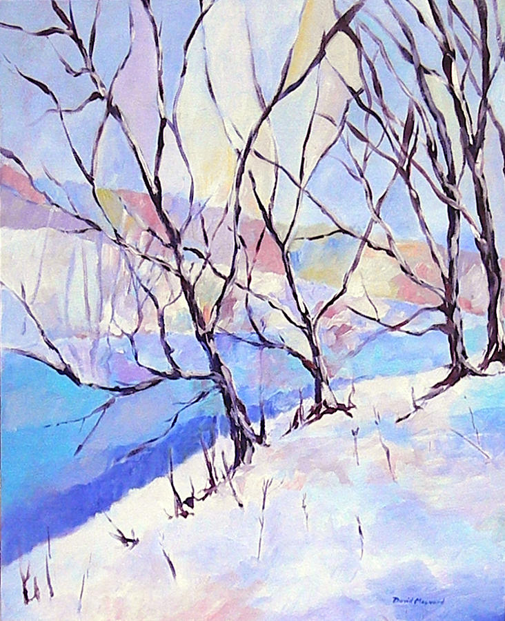Winter Landscape Painting - Little Miami Winter by David  Maynard