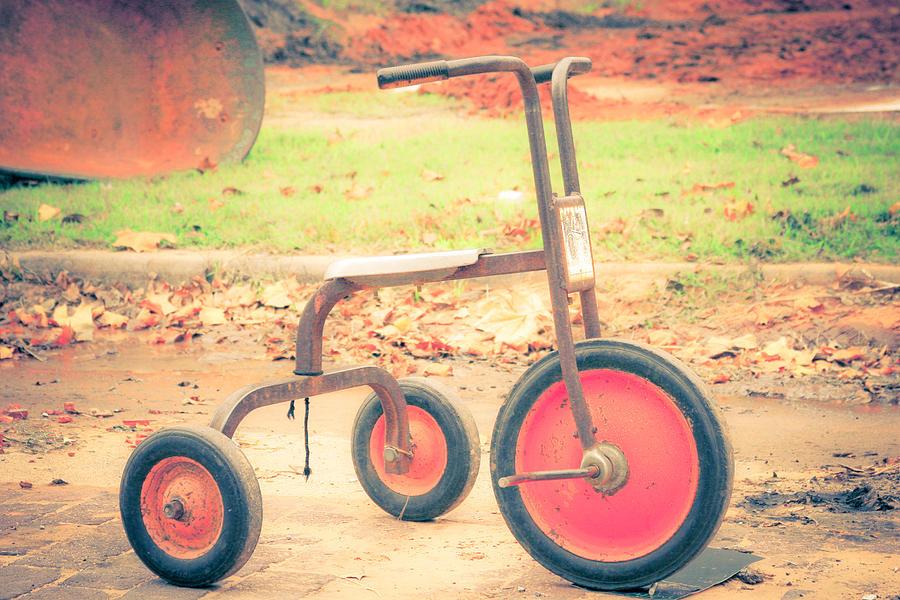 Vintage Tricycle Photograph - Little Wheels by Toni Hopper