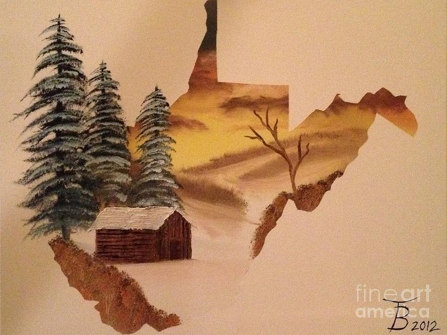 Original Painting - Little Wv Cabin by Tim Blankenship
