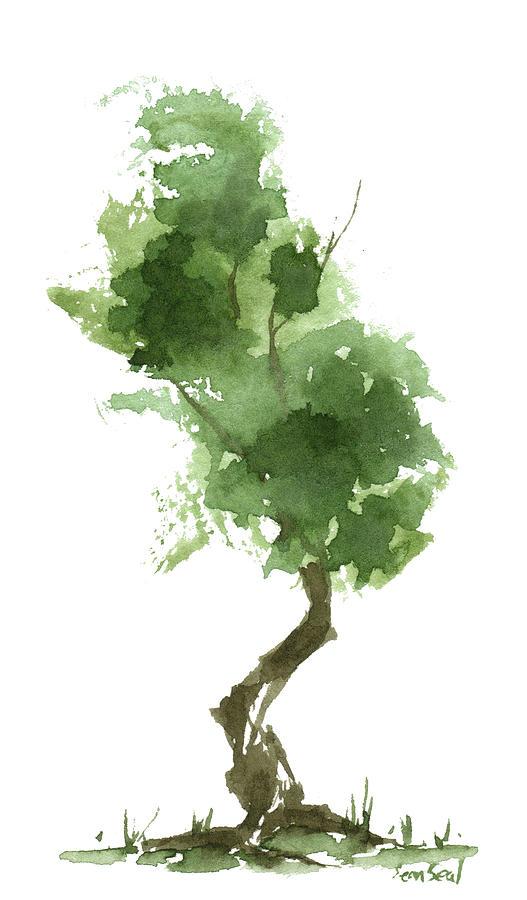 Zen Painting - Little Zen Tree 187 by Sean Seal