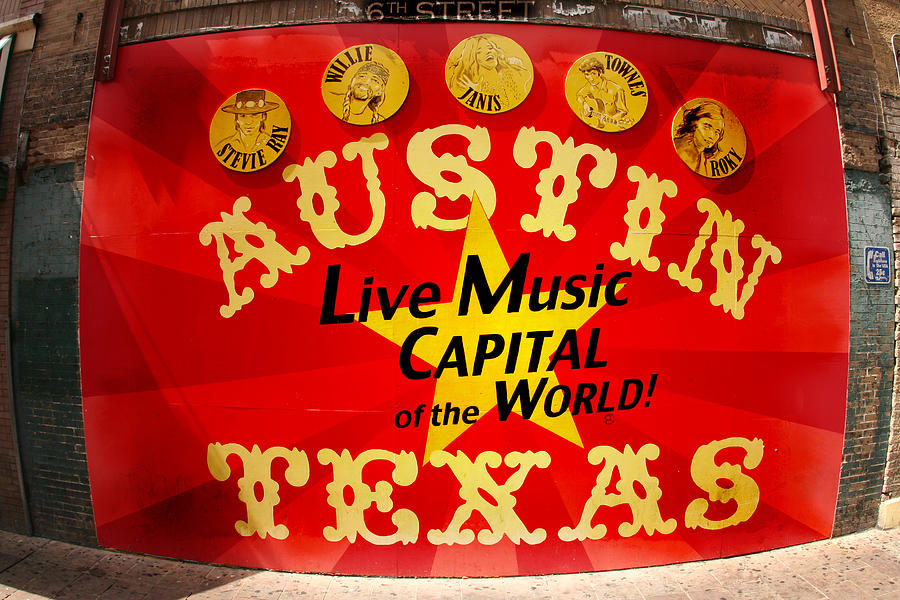 Photo Photograph - Live Music Mural Of Austin by Andrew Nourse