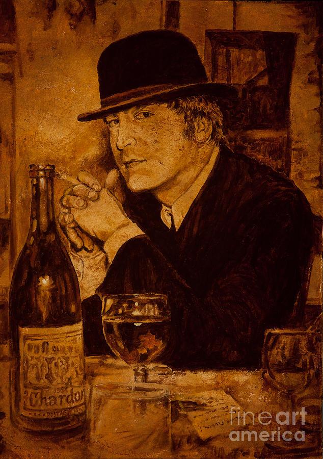 John Lennon Painting - Liverpool 1963. In The Pub by Igor Postash