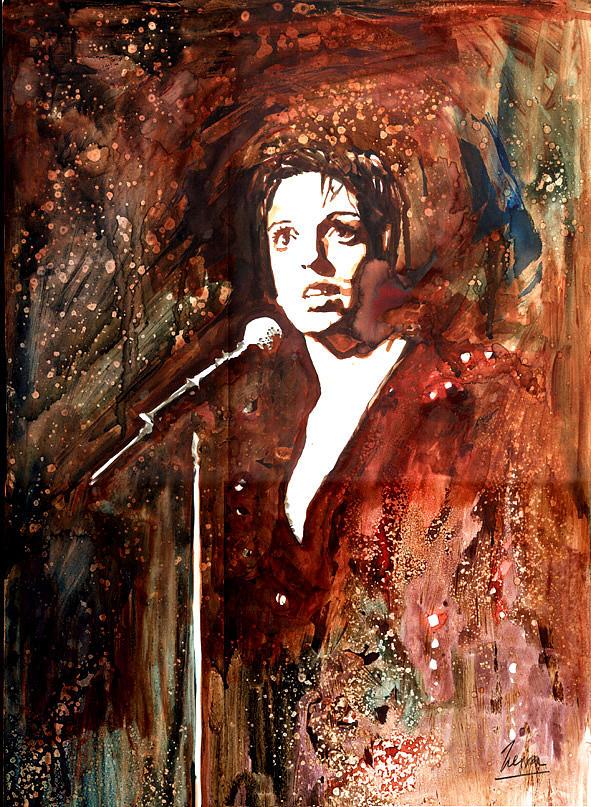 Liza Minnelli Painting - Liza by Marcelo Neira