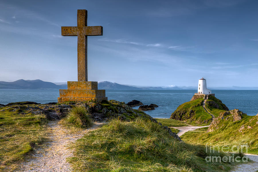 Anglesey Photograph - Llanddwyn Cross by Adrian Evans