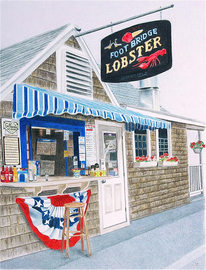 Drawing Drawing - Lobster Shack by Glenda Zuckerman