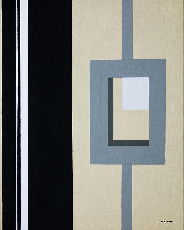 Geometric Painting - Lock by Slade Roberts