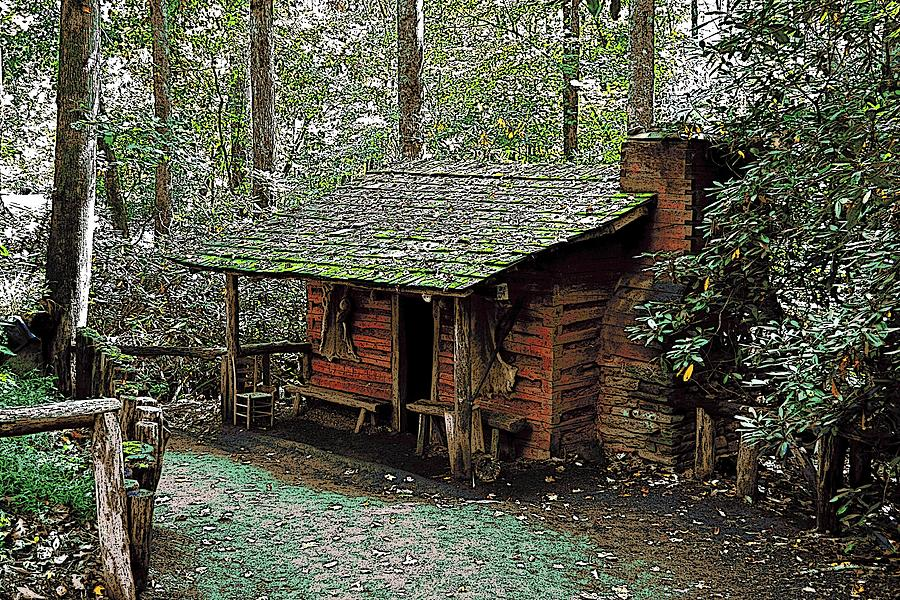 Log Cabin In The Woods Photograph By James Fowler