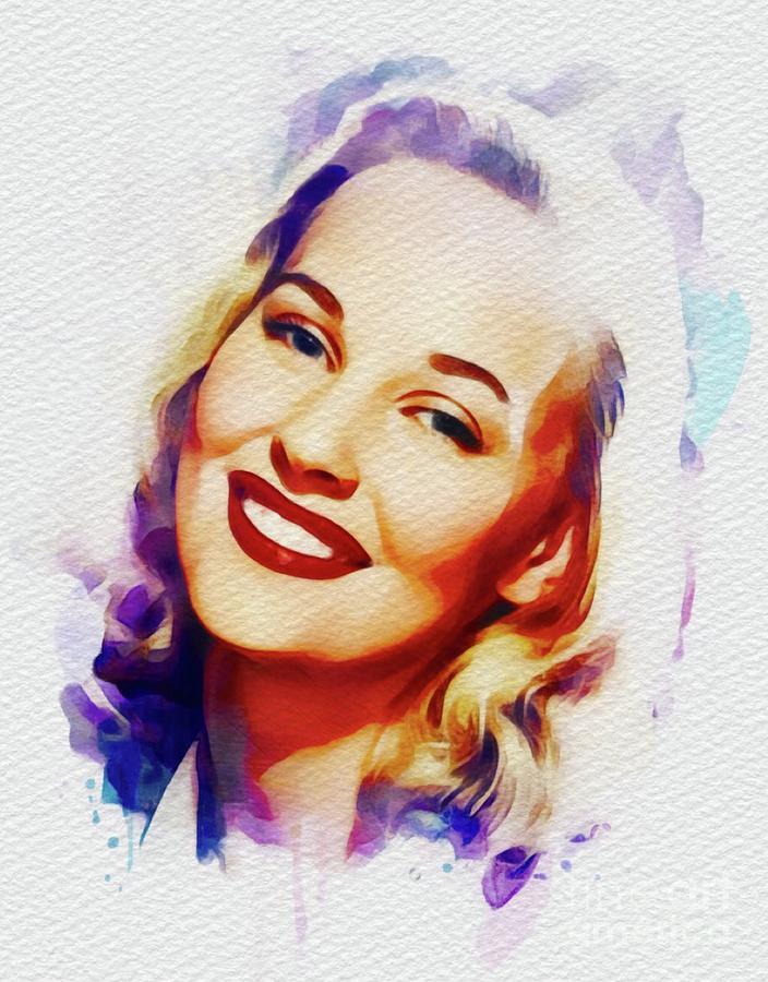 Lola Albright, Vintage Movie Star Painting