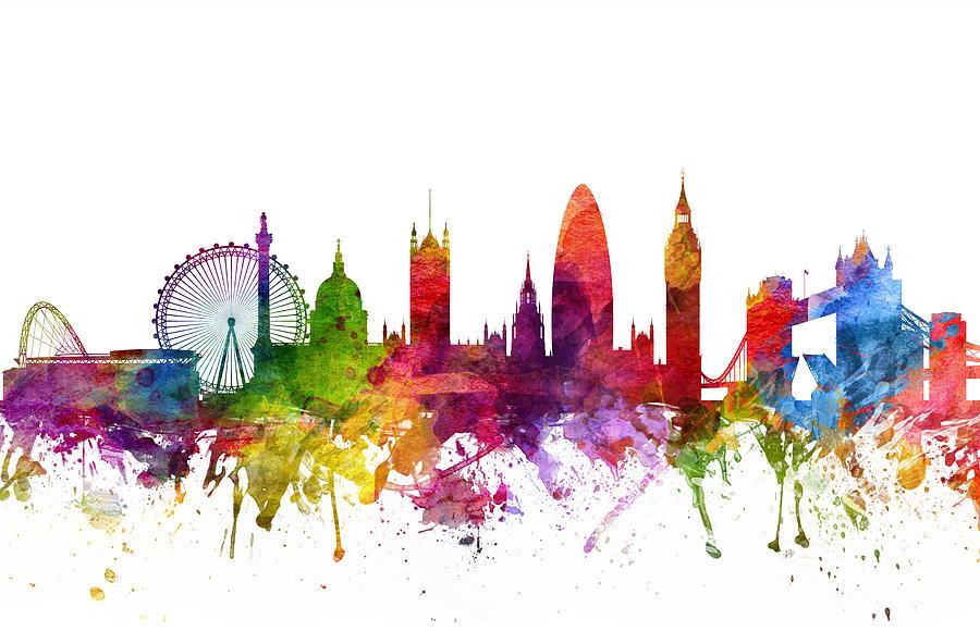 London England Cityscape 06 Digital Art