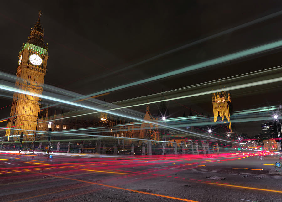 Horizontal Photograph - London Traffic by Mark A Paulda