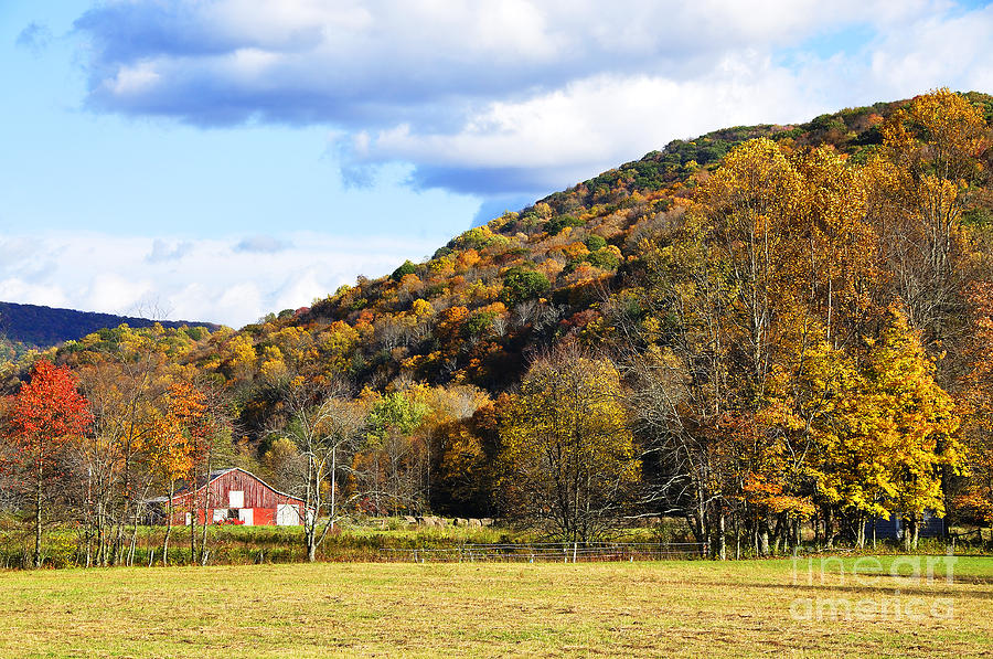Autumn Photograph - Lone Barn Fall Color by Thomas R Fletcher