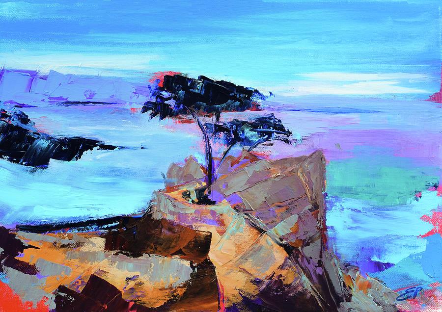 Lone Cypress - California Painting