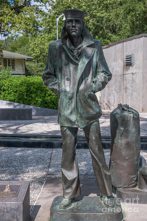 Lone Sailor Statue In North Charleston South Carolina Photograph