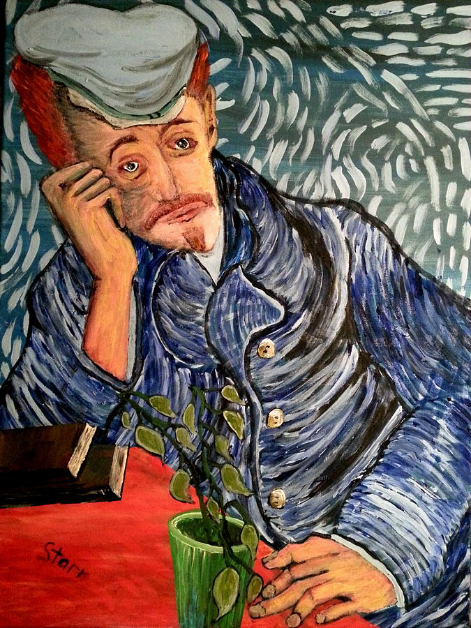 Van Gogh Painting - Lonely Guy by Irving Starr
