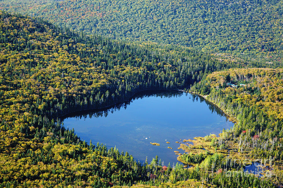 Autumn Photograph - Lonesome Lake - White Mountains New Hampshire Usa by Erin Paul Donovan