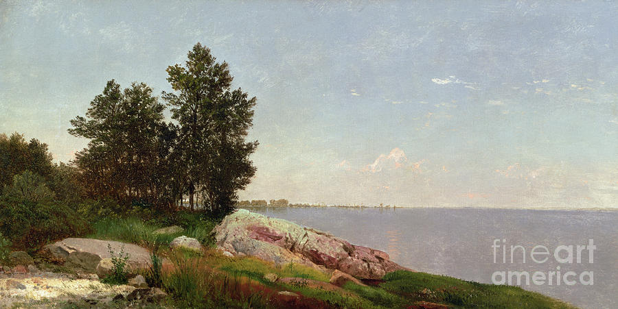 Long Island Sound At Darien (oil On Canvas) Long Island Sound At Darien (oil On Canvas) Painting - Long Island Sound At Darien by John Frederick Kensett