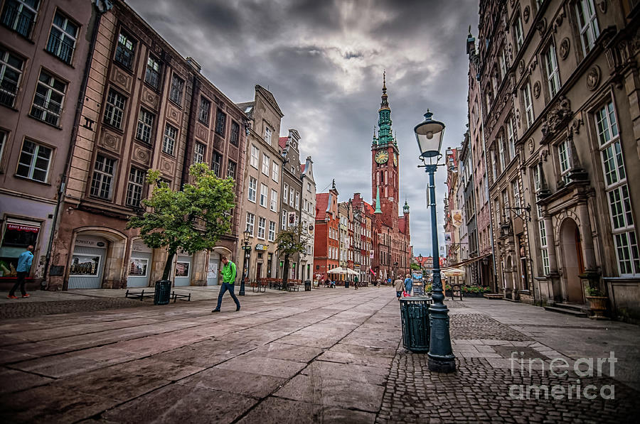 Long Market Street, Old Town Gdansk, Poland Photograph