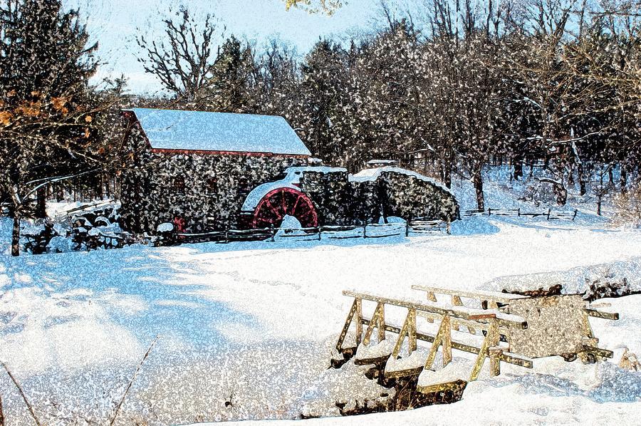 Longfellows Grist Mill Photograph