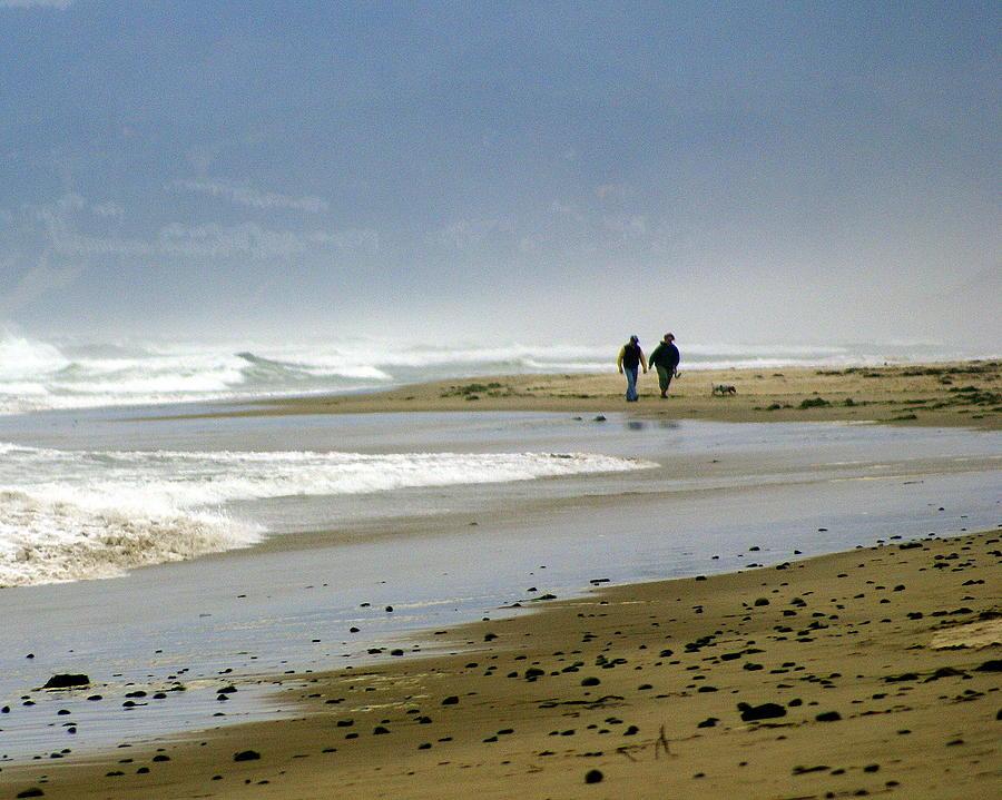 Oregon Photograph - Lonly Beach by Marty Koch