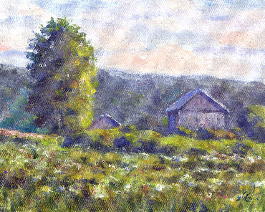 Nature Painting - Looking South by Michael Camp