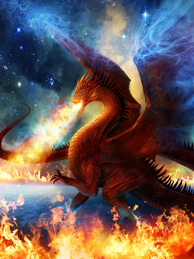 Dragon Painting - Lord Of The Celestial Dragons by Philip Straub