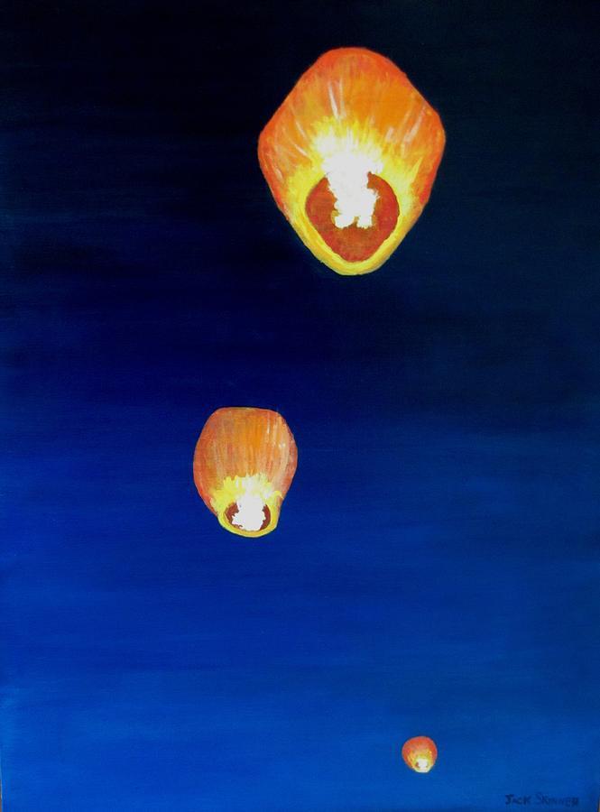 Chinese Lanterns Painting - Lorraines Lanterns by Jack Skinner