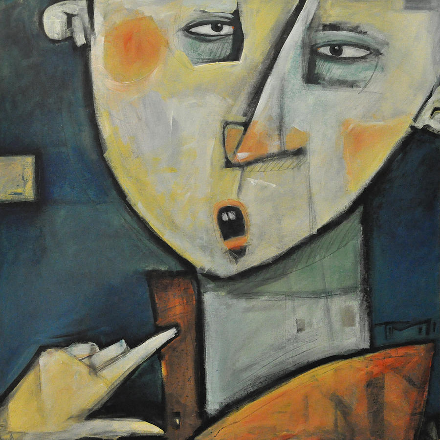 Man Painting - Losing Ones Voice by Tim Nyberg