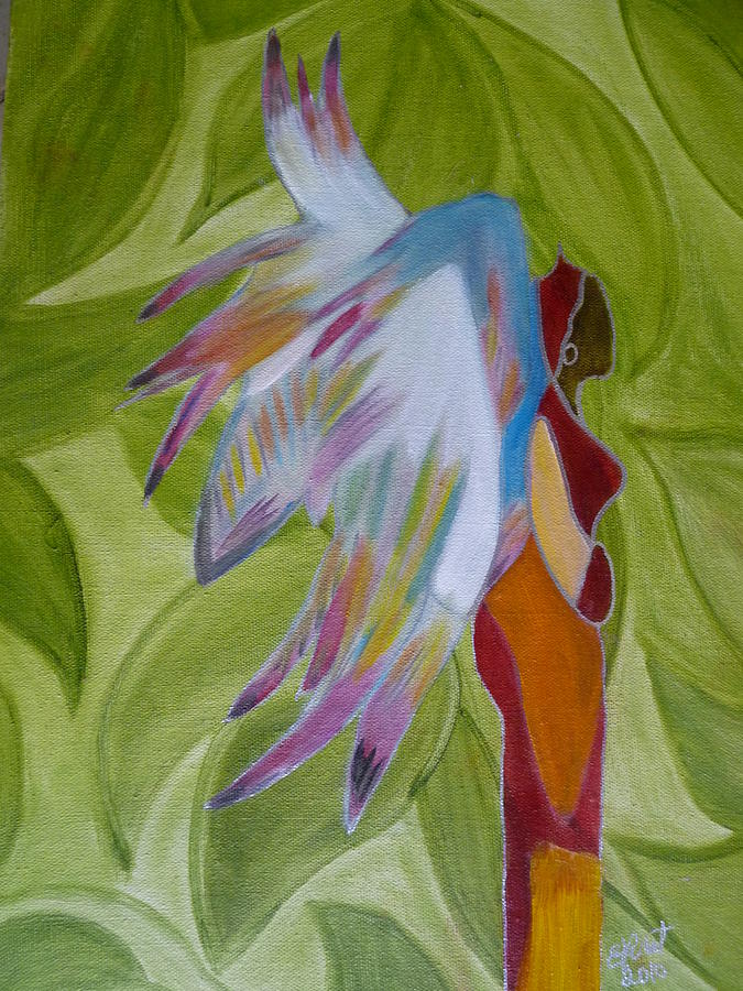 Angel Painting - Lost Angel by Elizabeth Ribet