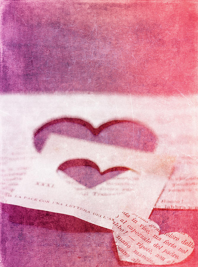 Hearts Photograph - Lost Hearts by Rebecca Cozart