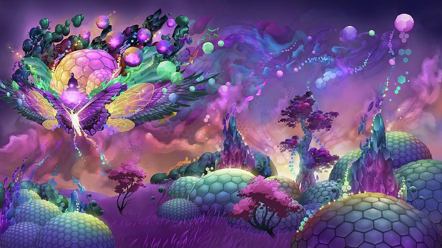Lotus Dome Culture Digital Art